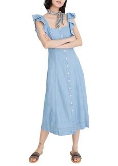 Madewell Princess Seamed Denim Midi Dress