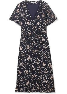 Madewell Printed Chiffon Wrap Dress