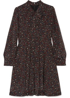 Madewell Printed Silk Crepe De Chine Mini Dress