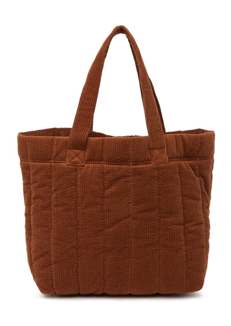 Madewell Quilted Corduroy Transport Tote