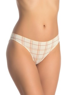 Madewell Rainbow Plaid Bikini Cut Panties