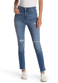 Madewell Raw Hem High Waisted Skinny Jeans