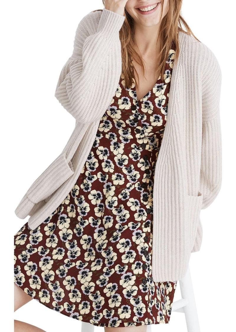 Madewell Redford Wool Blend Cardigan Sweater
