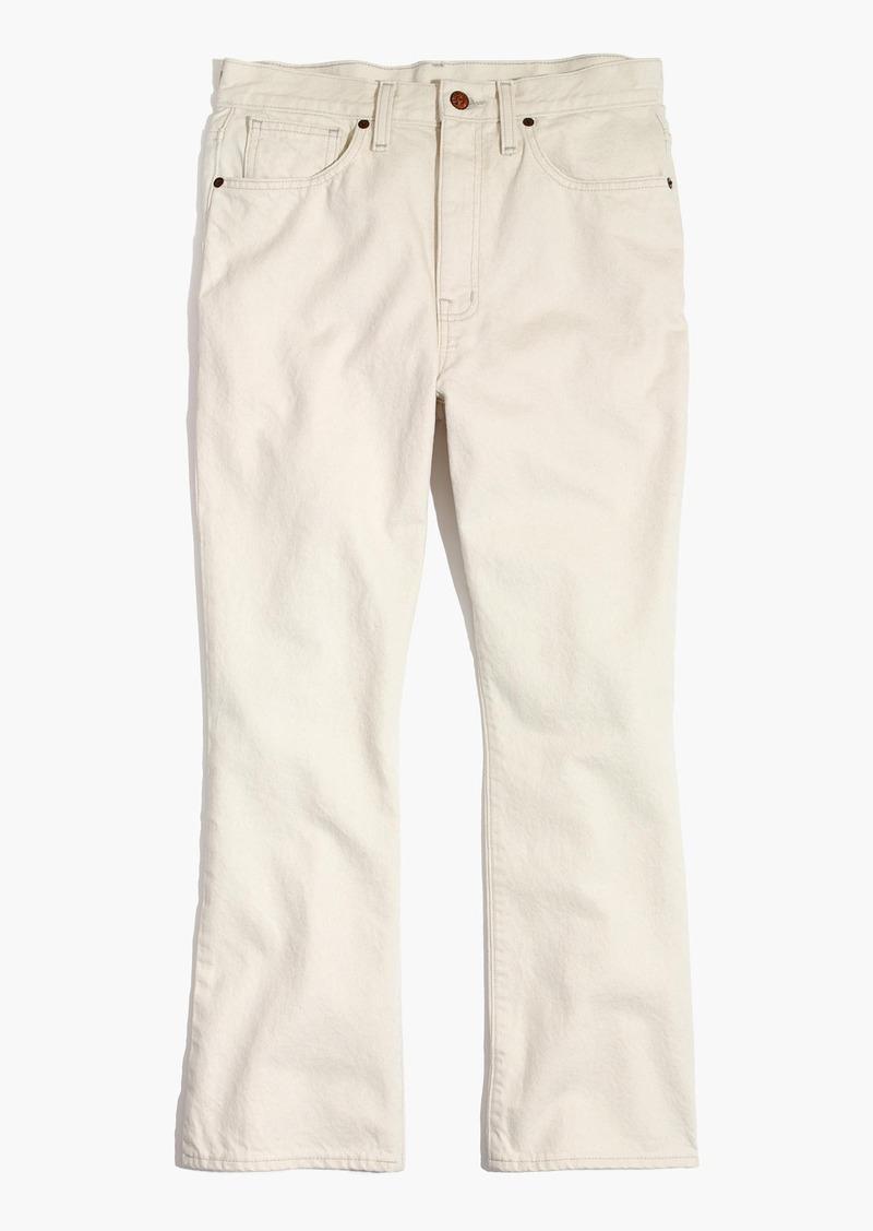 5dab6dc68d2 SALE! Madewell Retro Crop Bootcut Jeans in Ecru Wash