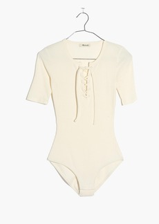 Madewell Ribbed Lace-Up Bodysuit
