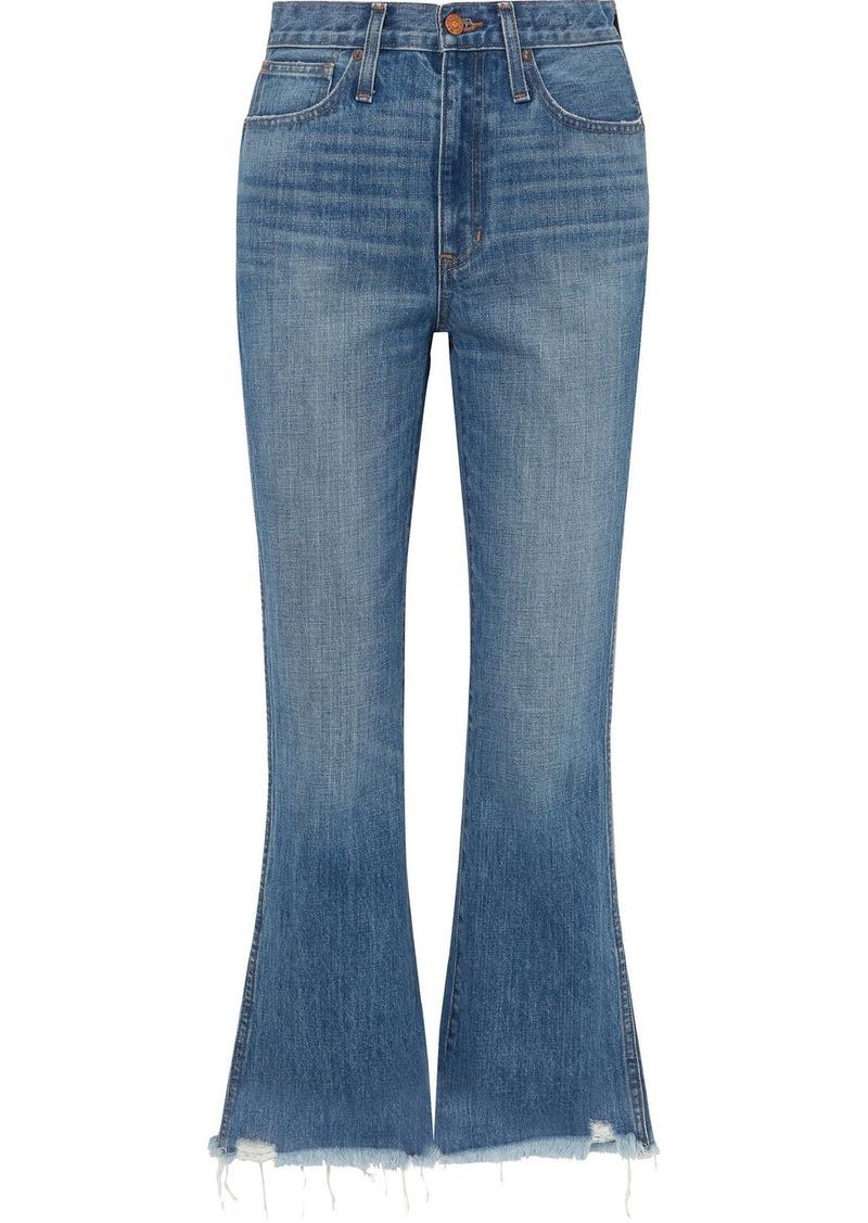 Madewell Rigid Flare Distressed Mid-rise Flared Jeans