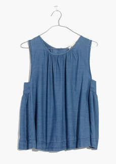 Riverbank Button-Back Top in Indigo