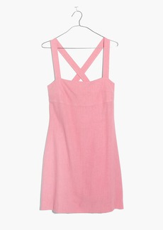 Madewell Rose Cross-Back Mini Dress