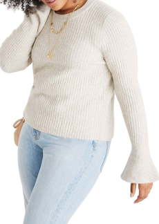 Madewell Ruffle Cuff Pullover Sweater (Regular & Plus Size)