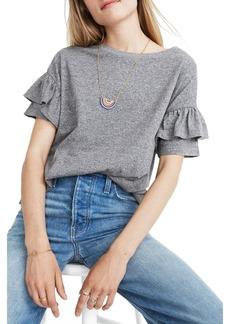 Madewell Ruffle Sleeve T-Shirt (Regular & Plus Size)
