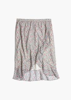 Madewell Ruffle-Wrap Midi Skirt in Shadowpetal