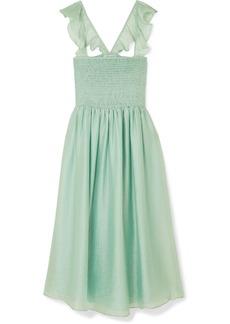 Madewell Ruffled Shirred Voile Dress