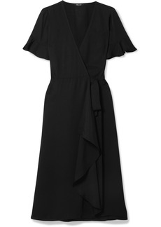 Madewell Ruffled Washed-twill Wrap Dress