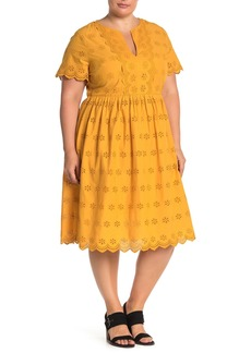 Madewell Scallop Eyelet Dress (Regular & Plus Size)