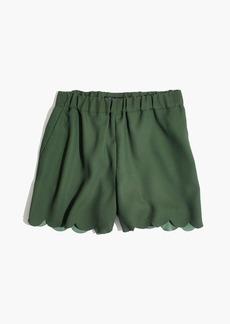 Scallop-Hem Pull-On Shorts