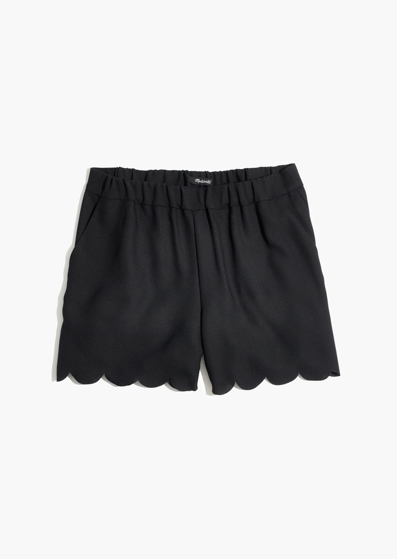 Madewell Scallop-Hem Pull-On Shorts