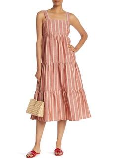 Madewell Seamed Stripe Midi Dress