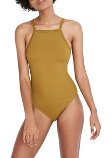 Madewell Second Wave Racerback Rib One-Piece Swimsuit