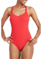 Madewell Second Wave Rib Crisscross One-Piece Swimsuit (Regular & Plus Size)