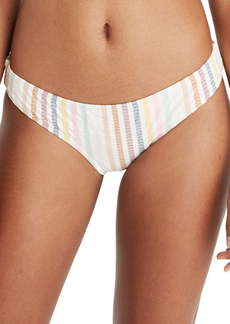 Madewell Seersucker Stripe Shirred Bikini Bottoms