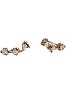 Madewell Semi Stone Gemline Stud Earrings