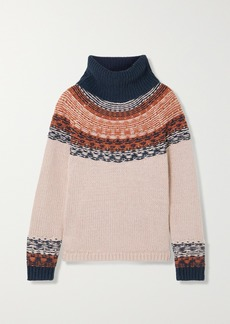 Madewell Senya Fair Isle Cotton-blend Turtleneck Sweater