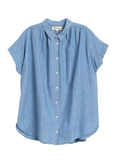 Madewell Short Sleeve Button Front Chambray Shirt (Regular & Plus Size)