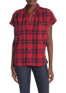 Madewell Short Sleeve Plaid Print Shirt