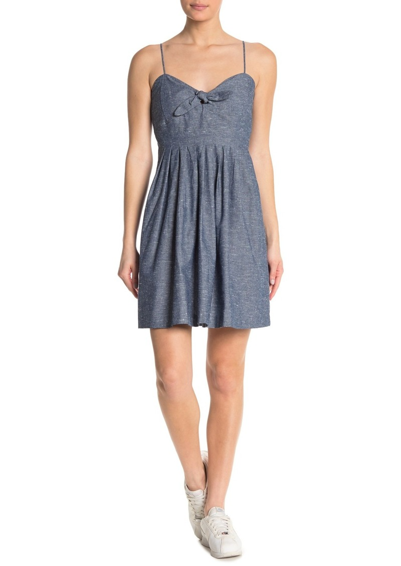 Madewell Short Tie Front Chambray Dress