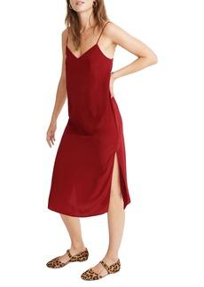Madewell Side Slit Silk Slipdress