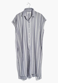 Madewell Side-Slit Tunic Shirt in Stripe
