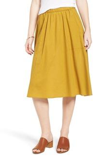 Madewell Sidewalk Midi Skirt