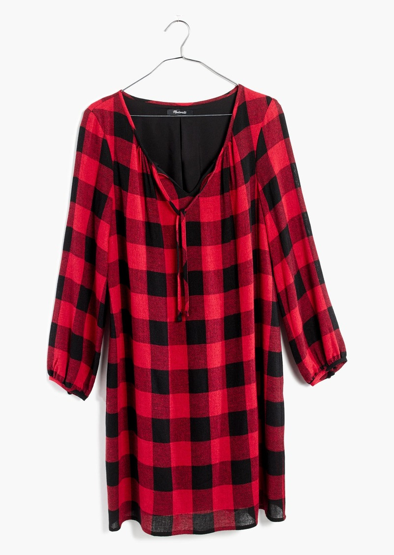 Madewell Signal Tunic Dress in Buffalo Check