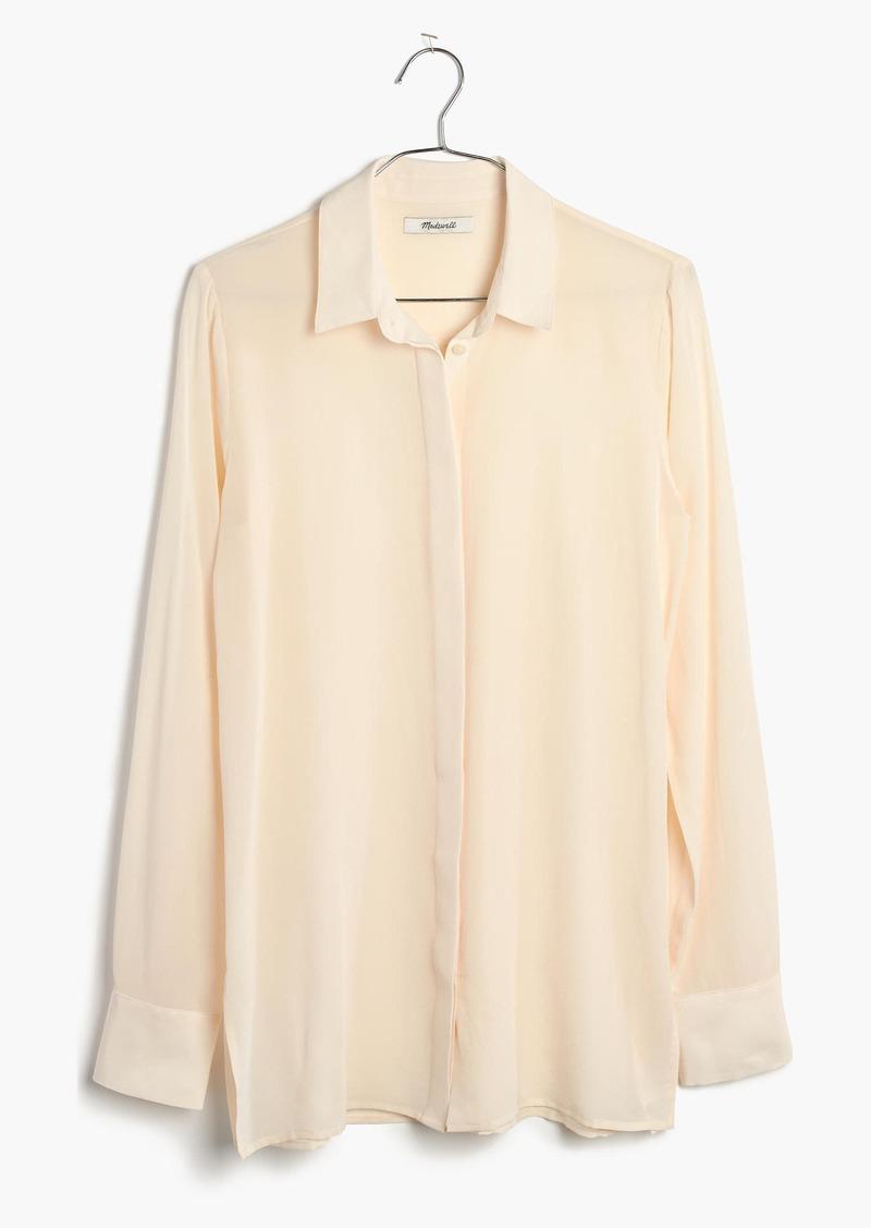 29f92fefe3c24 Madewell Silk Button-Down Shirt