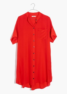 Silk Button-Down Shirtdress