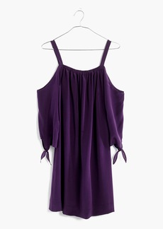 Silk Cold-Shoulder Dress