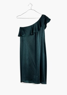 Silk Dancefloor One-Shoulder Dress