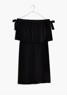 Silk Off-the-Shoulder Dress