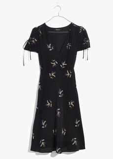 Silk Poppy Dress in Wild Botanic