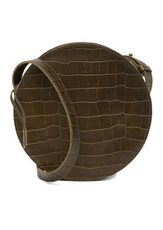Madewell Simple Circle Croc Embossed Leather Crossbody Bag