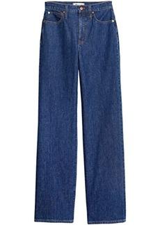 Madewell Slim Wide Leg Full-Length Jeans in Birley Wash