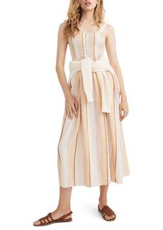 Madewell Smocked Stripe Tank Maxi Dress