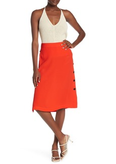 Madewell Solid Side Button Midi Skirt