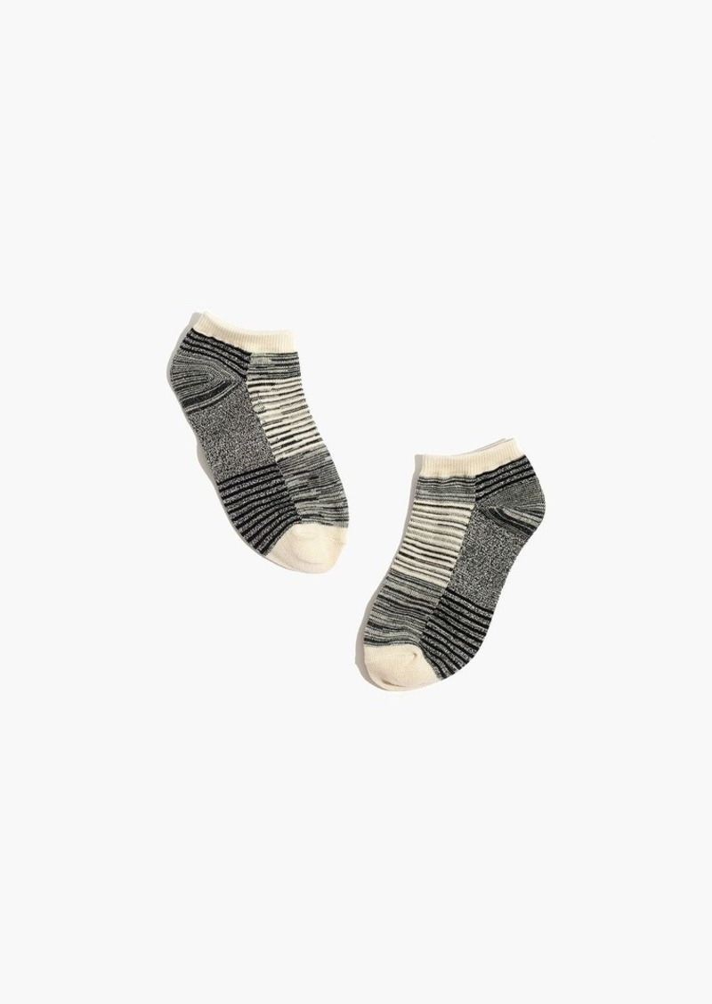 Madewell space-dyed stripe anklet socks
