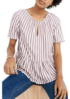 Madewell Stanza Stripe Ruffle Hem Top (Regular & Plus Size)