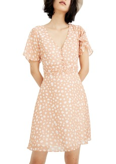Madewell Star Shower Ruched Waist Mini Dress