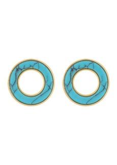 Madewell Stone Inlay Circle Stud Earrings