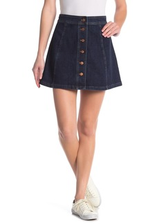 Madewell Stretch A-Line Mini Denim Skirt