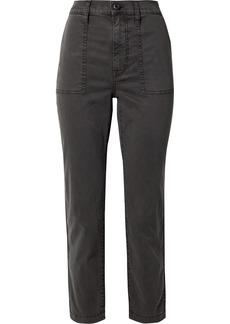 Madewell Stretch Cotton-blend Straight-leg Pants