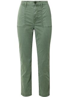 Madewell Stretch-cotton Blend Straight-leg Pants